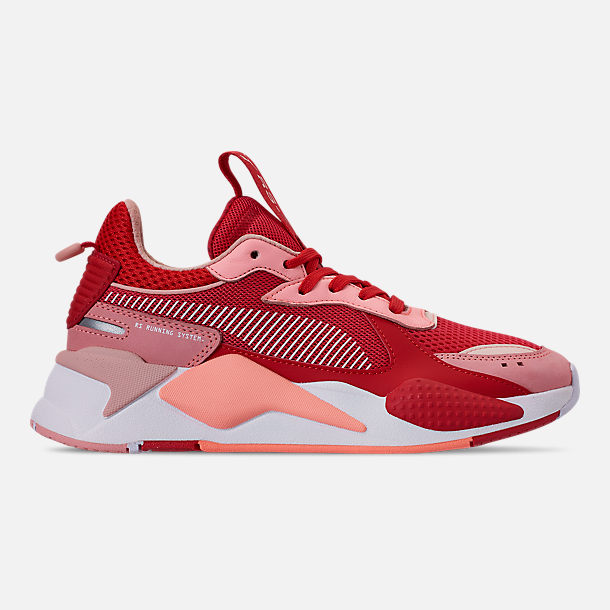 Right view of Women s Puma RS-X Trophy Casual Shoes in Bright Peach High 5b44f38025