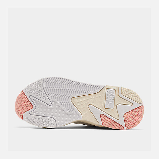 Bottom view of Women's Puma RS-X Reinvention Casual Shoes in Puma White/Peach Bud