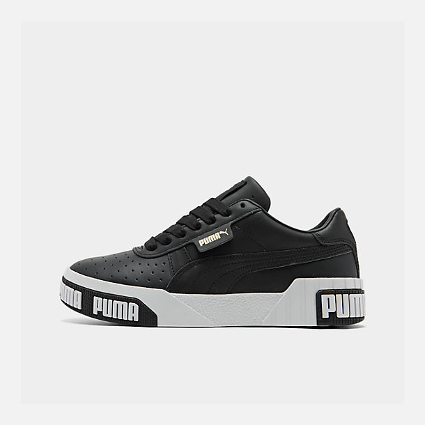Right view of Women's Puma Cali Bold Casual Shoes in Puma Black/Metallic Gold