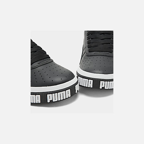 Front view of Women's Puma Cali Bold Casual Shoes in Puma Black/Metallic Gold