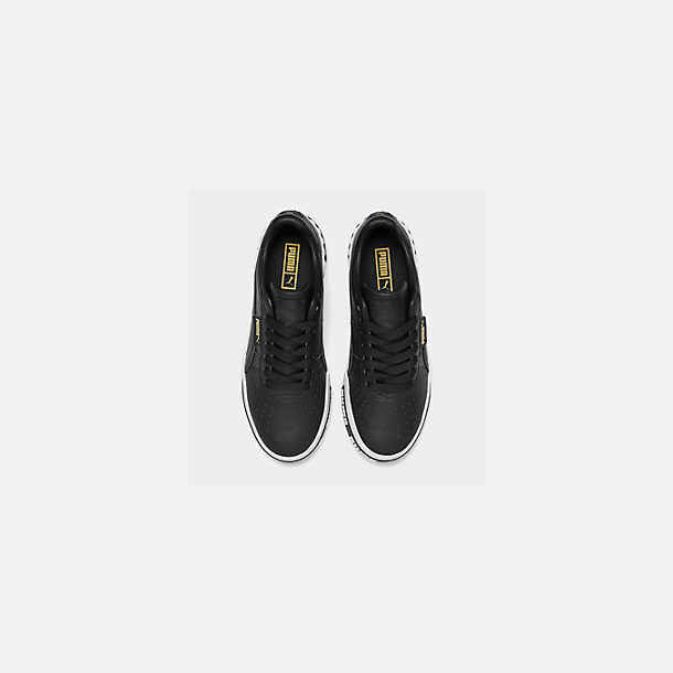 Back view of Women's Puma Cali Bold Casual Shoes in Puma Black/Metallic Gold