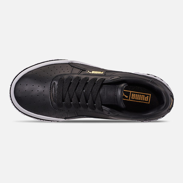 Top view of Women's Puma Cali Bold Casual Shoes in Puma Black/Metallic Gold