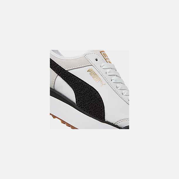 Front view of Women's Puma Roma Amor Heritage Casual Shoes in White/Black