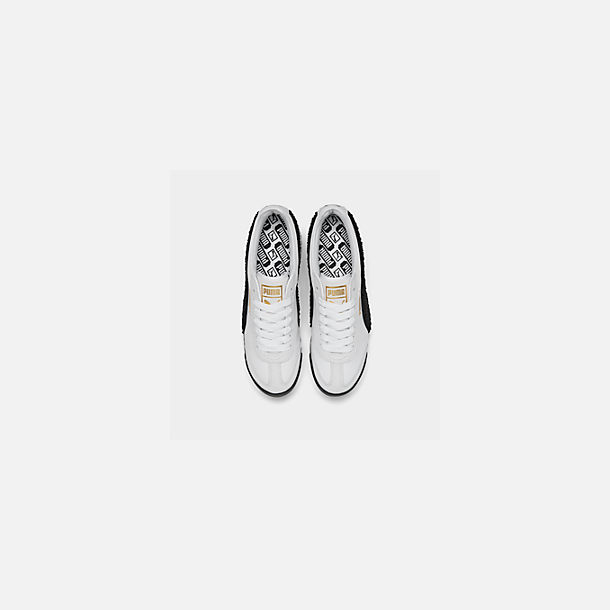 Back view of Women's Puma Roma Amor Heritage Casual Shoes in White/Black