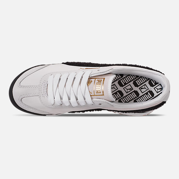Top view of Women's Puma Roma Amor Heritage Casual Shoes in White/Black