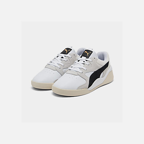 Three Quarter view of Women's Puma Aeon Heritage Casual Shoes in Puma White/Puma Black