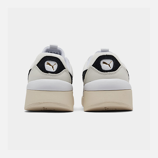 Left view of Women's Puma Aeon Heritage Casual Shoes in Puma White/Puma Black