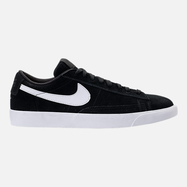 Right view of Men's Nike Blazer Low Casual Shoes in Black/White