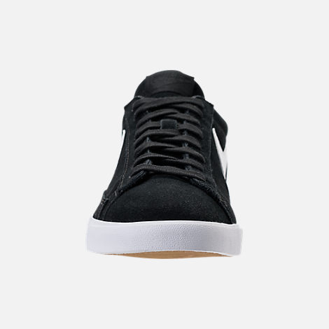 Front view of Men's Nike Blazer Low Casual Shoes in Black/White