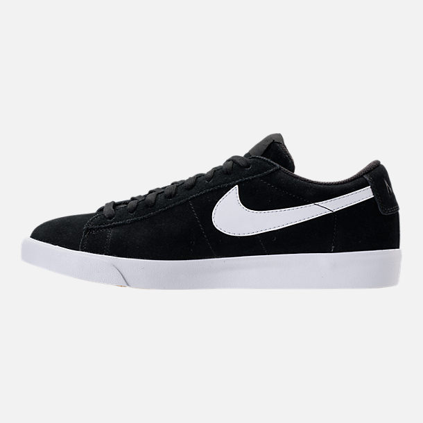 Left view of Men's Nike Blazer Low Casual Shoes in Black/White