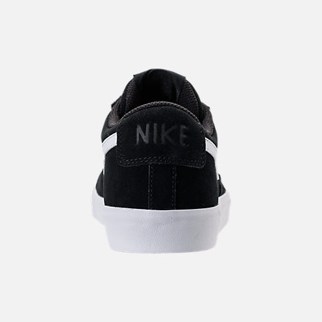 Back view of Men's Nike Blazer Low Casual Shoes in Black/White