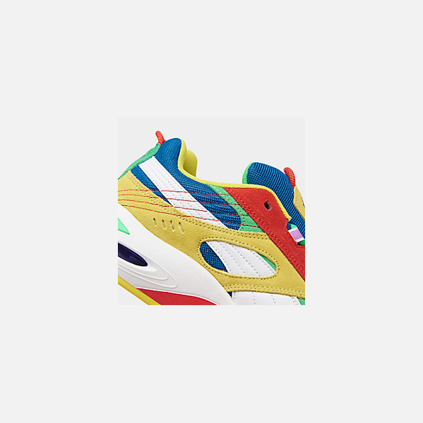 Front view of Men's Puma Cell Speed Multi Casual Shoes in Puma White/Blazing Yellow