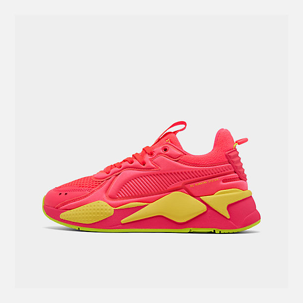 Right view of Women's Puma RS-X Softcase Casual Shoes in Pink Alert/Yellow Alert
