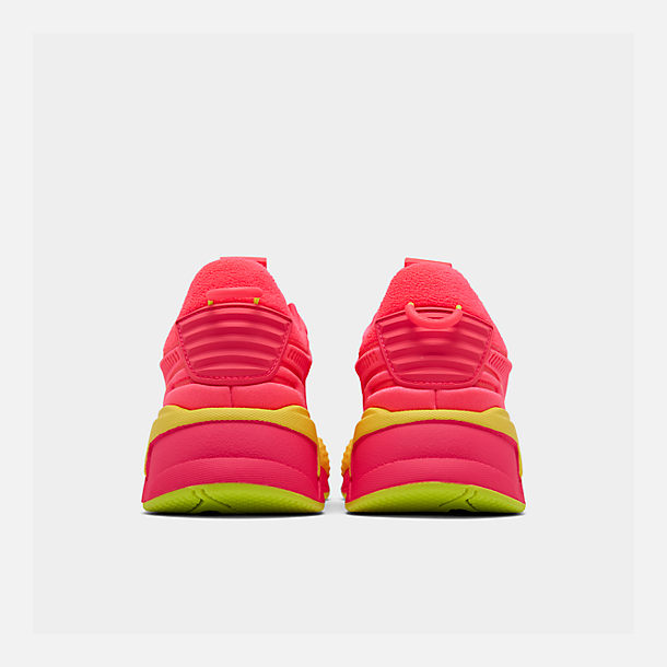 Left view of Women's Puma RS-X Softcase Casual Shoes in Pink Alert/Yellow Alert
