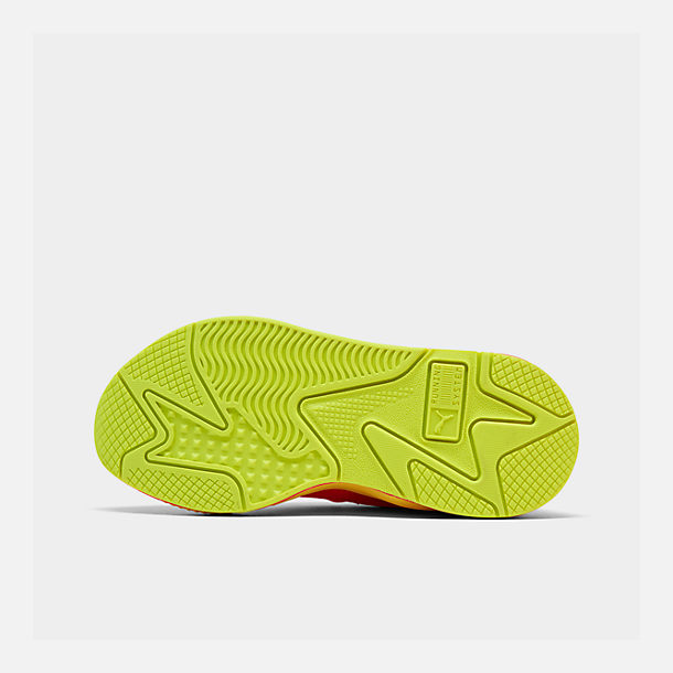 Bottom view of Women's Puma RS-X Softcase Casual Shoes in Pink Alert/Yellow Alert