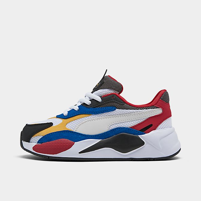 Right view of Boys' Little Kids' Puma RS-X Puzzle Casual Shoes in Puma White/Spectra Yellow