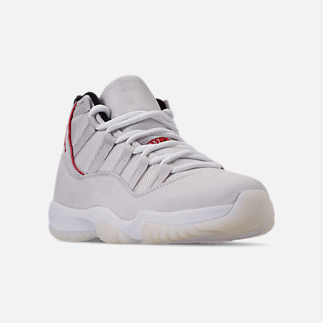 Three Quarter view of Men's Air Jordan Retro 11 Basketball Shoes