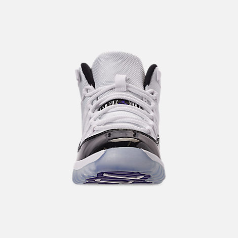 Front view of Little Kids' Air Jordan Retro 11 Low Basketball Shoes