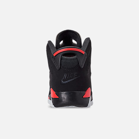Back view of Little Kids' Air Jordan Retro 6 Basketball Shoes