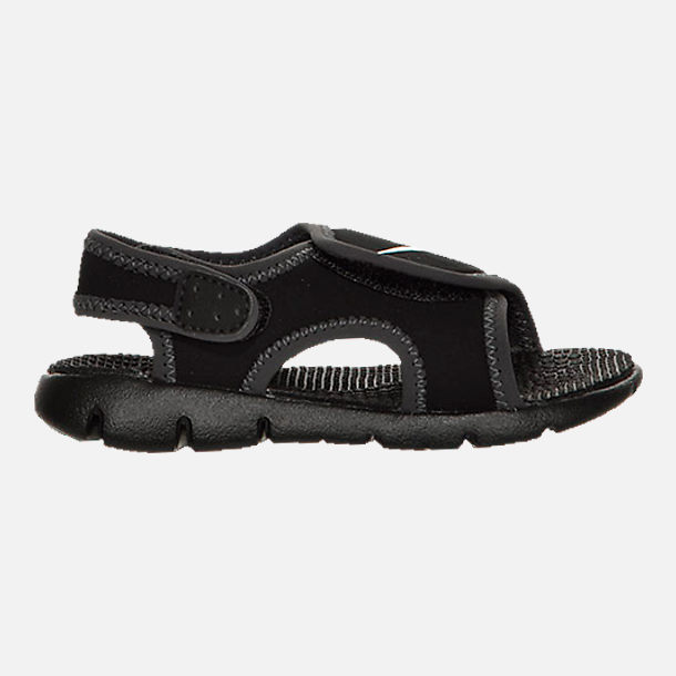 Right view of Boys' Toddler Nike Sunray Adjust 4 Sandals in Black/White/Anthracite