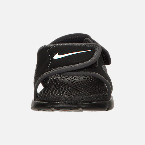 Front view of Boys' Toddler Nike Sunray Adjust 4 Sandals in Black/White/Anthracite
