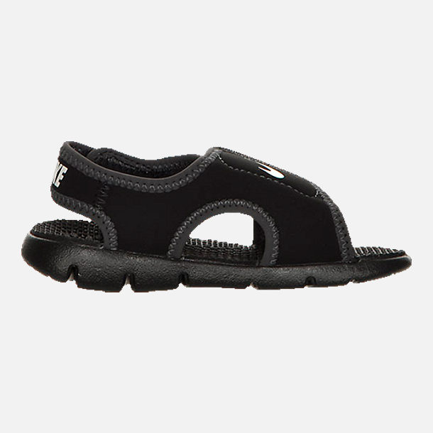 Left view of Boys' Toddler Nike Sunray Adjust 4 Sandals in Black/White/Anthracite
