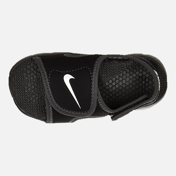 Top view of Boys' Toddler Nike Sunray Adjust 4 Sandals in Black/White/Anthracite