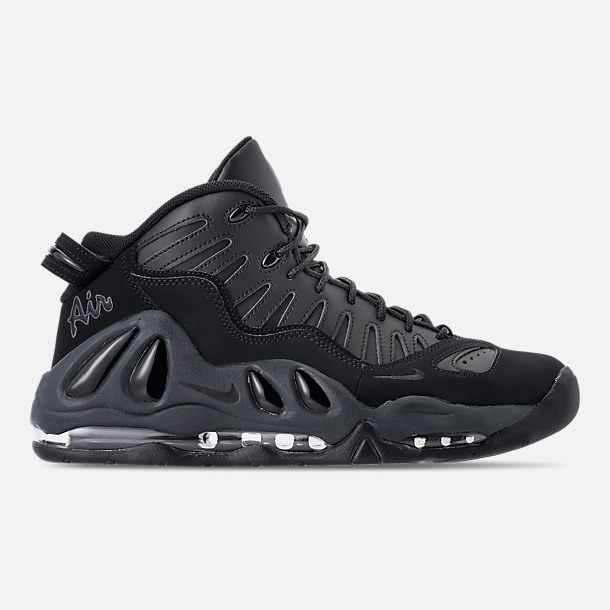 Right view of Men's Nike Air Max Uptempo '97 Basketball Shoes in Black/Anthracite