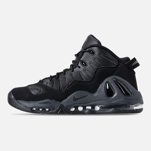 Left view of Men's Nike Air Max Uptempo '97 Basketball Shoes in Black/Anthracite