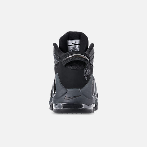 Back view of Men's Nike Air Max Uptempo '97 Basketball Shoes in Black/Anthracite