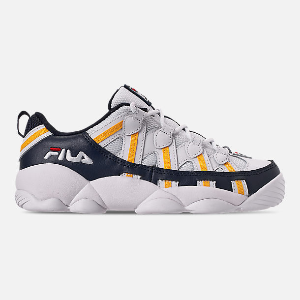 fabd5f7aaca73a Right view of Boys  Big Kids  Fila Spaghetti Low Basketball Shoes in White