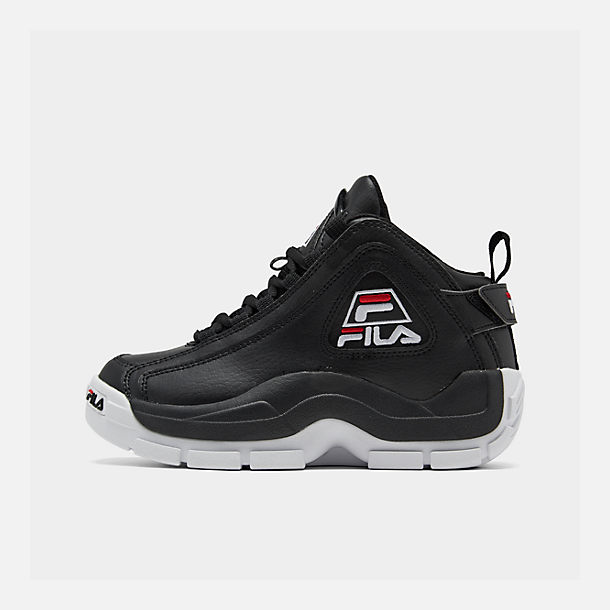 Right view of Boys' Big Kids' Fila Grant Hill 2 Basketball Shoes in Black/White/Fila Red