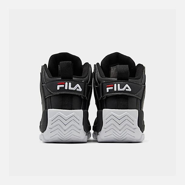 Left view of Boys' Big Kids' Fila Grant Hill 2 Basketball Shoes in Black/White/Fila Red