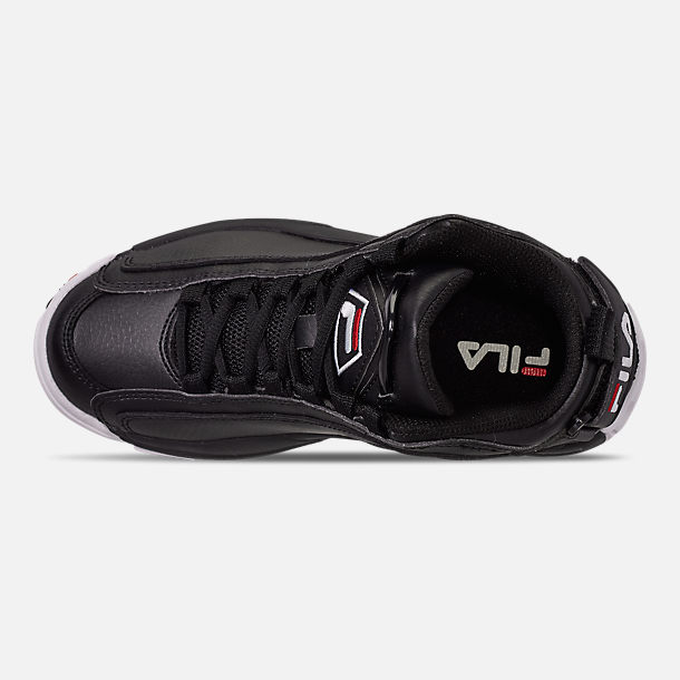 Top view of Boys' Big Kids' Fila Grant Hill 2 Basketball Shoes in Black/White/Fila Red