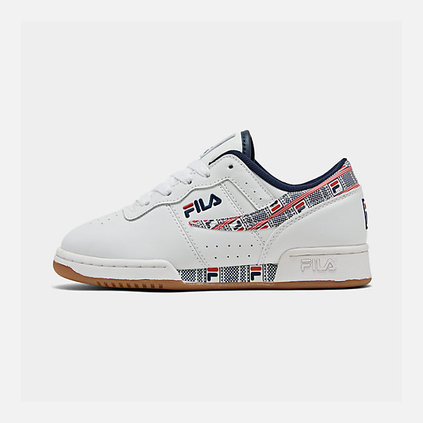Right view of Boys' Big Kids' Fila Original Fitness Casual Shoes in White