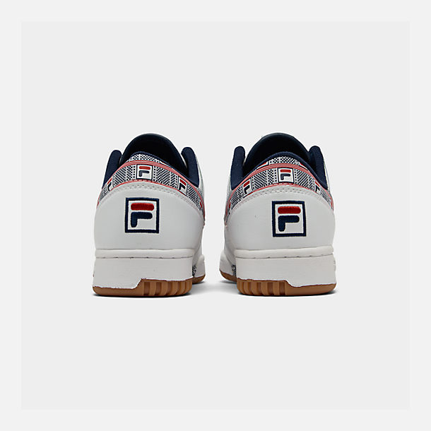 Left view of Boys' Big Kids' Fila Original Fitness Casual Shoes in White