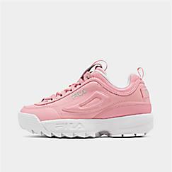 Girls' Big Kids' Fila Disruptor Patent Flag Casual Shoes