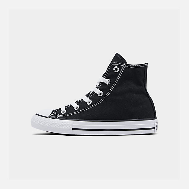 Right view of Little Kids' Converse Chuck Taylor Hi Top Casual Shoes in Black