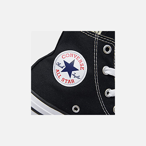 Front view of Little Kids' Converse Chuck Taylor Hi Top Casual Shoes in Black