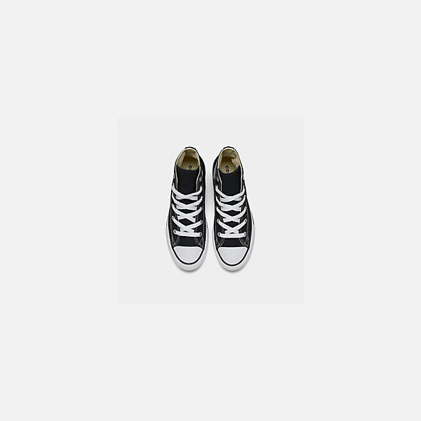 Back view of Little Kids' Converse Chuck Taylor Hi Top Casual Shoes in Black