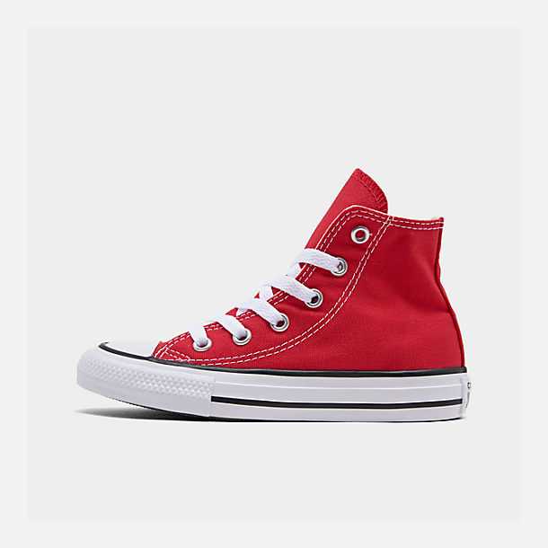 Right view of Boys' Preschool Converse Chuck Taylor Hi Casual Shoes in Red