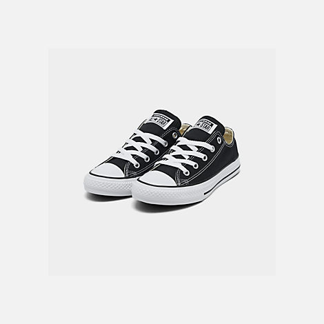 Three Quarter view of Boys' Little Kids' Converse Chuck Taylor Ox Casual Shoes in Black