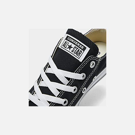 Front view of Boys' Little Kids' Converse Chuck Taylor Ox Casual Shoes in Black