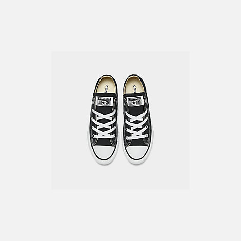 Back view of Boys' Little Kids' Converse Chuck Taylor Ox Casual Shoes in Black