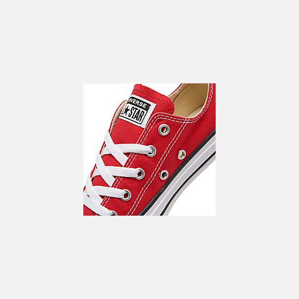 Front view of Boys' Little Kids' Converse Chuck Taylor Ox Casual Shoes in Red