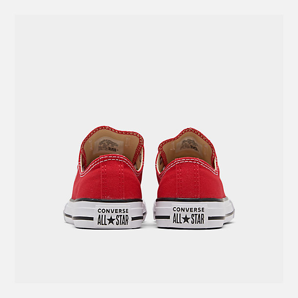 Left view of Boys' Little Kids' Converse Chuck Taylor Ox Casual Shoes in Red