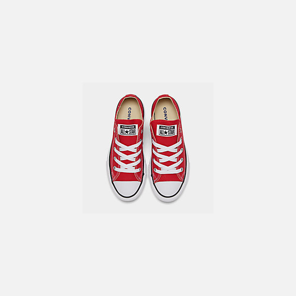 Back view of Boys' Little Kids' Converse Chuck Taylor Ox Casual Shoes in Red