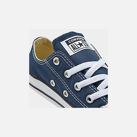 Front view of Boys' Little Kids' Converse Chuck Taylor Ox Casual Shoes in Navy