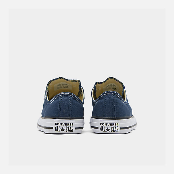 Left view of Boys' Little Kids' Converse Chuck Taylor Ox Casual Shoes in Navy
