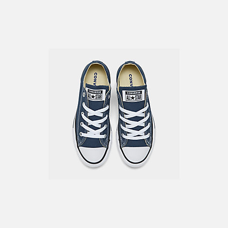 Back view of Boys' Little Kids' Converse Chuck Taylor Ox Casual Shoes in Navy